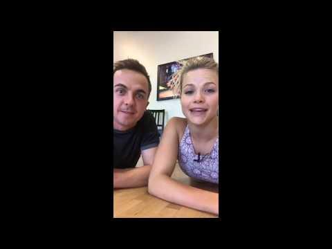 Frankie Muniz and Witney Carson - Instagram LIVE - (9/15/17)