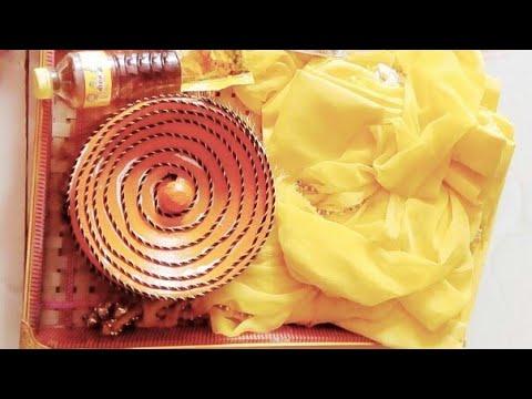 Pot decoration for haldi ceremony |