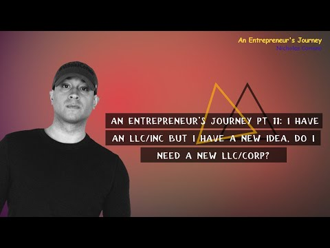An Entrepreneur's Journey pt 11: I Have An LLC/INC But I Have a New Idea, Do I Need A New LLC/CORP?