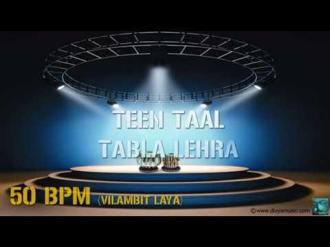 Learn How To Play Tabla | TEEN TAAL TABLA LEHRA VILAMBIT LAYA (50 BPM)| Divya Music