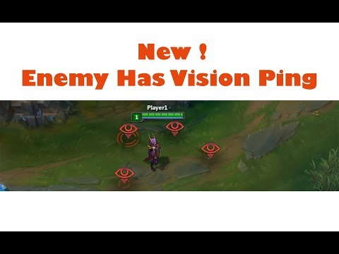 how to enable Enemy Has Vision new ping- League of Legends