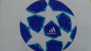 UEFA Champions League ball 2019-drawing
