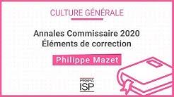 Annales POLICE Commissaire 2020 - Culture générale