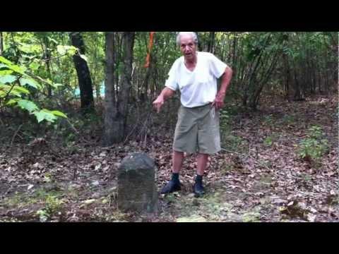 Uncle Joe Explains a Mason Dixon Line Marker on His Property