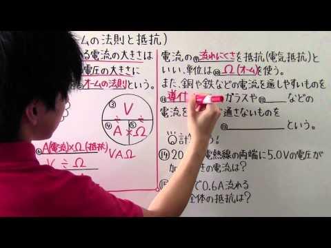 【中2 理科】  中2-39  オームの法則と抵抗