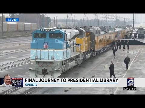 President George H.W. Bush's train travels from Spring to College Station Mp3