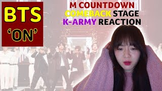 ? BTS 'ON' Comeback Stage M COUNTDOWN 200227 K-Army Reaction…