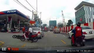 Road rage & accident in Malaysia