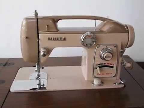 Vintage White Sewing Machine Model 40 Walnut Finish Cabinet Made New White Sewing Machine