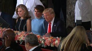 Trump heads to Senate luncheon