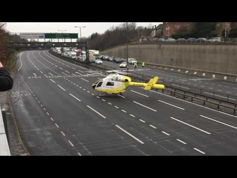 Air Ambulance Landing and Take Off A406 08 December 2016