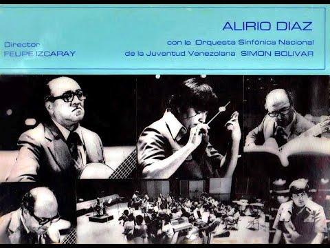 Alirio Diaz plays Lauro's Guitar Concerto with Simon Bolivar Orchestra Felipe Izcaray 1980