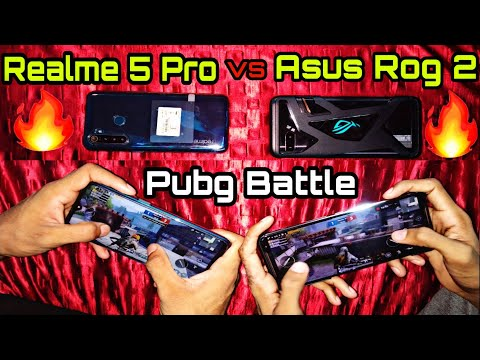 Asus Rog Phone 2 VS Realme 5 Pro:Pubg Gaming Review   Battery Drain Test   Speed Test  