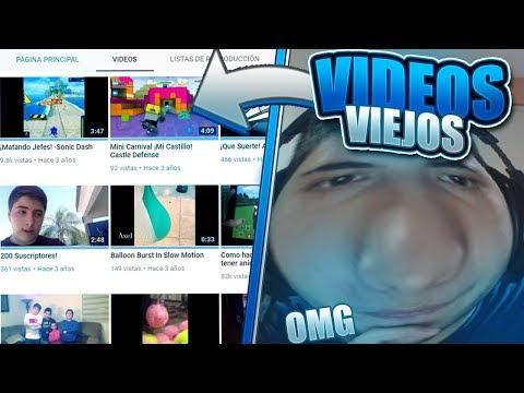 ¡REACCIONANDO A MIS PRIMEROS VIDEOS DE MI CANAL😨! - AXELPRO123