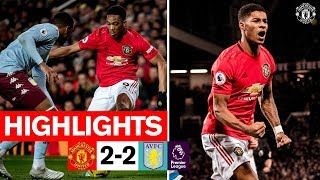 Highlights | Manchester United 2 2 Aston Villa | 2019/20 Premier League