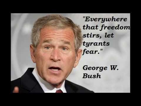 Jeb Bush Quotes Brilliant George W Bush Quotes_ George Walker Bush Best Quotes  Youtube