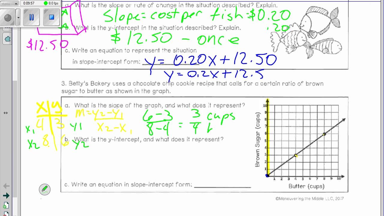 slope intercept form video  Day 8 Slope Intercept Form part 8 video for notes - YouTube