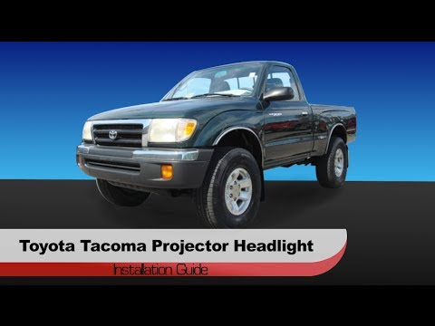 Spyder Auto Installation 1997 2000 Toyota Tacoma Halo Projector Head Lights