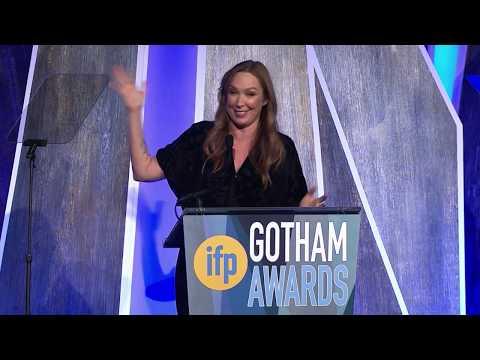 Elizabeth Marvel ducing 2017 IFP Gotham Tributee Dustin Hoffman