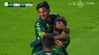 embeded bvideo Resumen | Pumas UNAM 2 - 1 Santos Laguna | Copa MX - Apertura 2019  - Octavos de Final