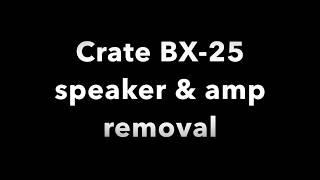 قفص BX-25 المتكلم/أمبير إزالة