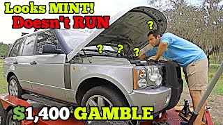 I Bought a $1,400 RANGE ROVER at Auction with MYSTERY Mechanical Damage SIGHT UNSEEN!