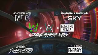Alan Walker, Alex Skrindo, Elektronomia & Wizario - Energetic Silhouettes in the Fading Sky
