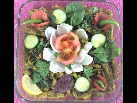 Simple & quick recipe -Taro stolon/ Kachur Loti with King prawn.