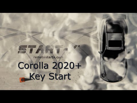 Start-X Remote Start Install Corolla 2020+ Key Start
