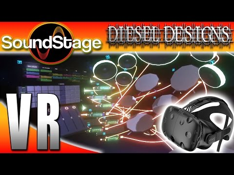 Soundstage VR : Virtual Reality DJ!  Create Music in VR (HTC VIVE Gameplay)