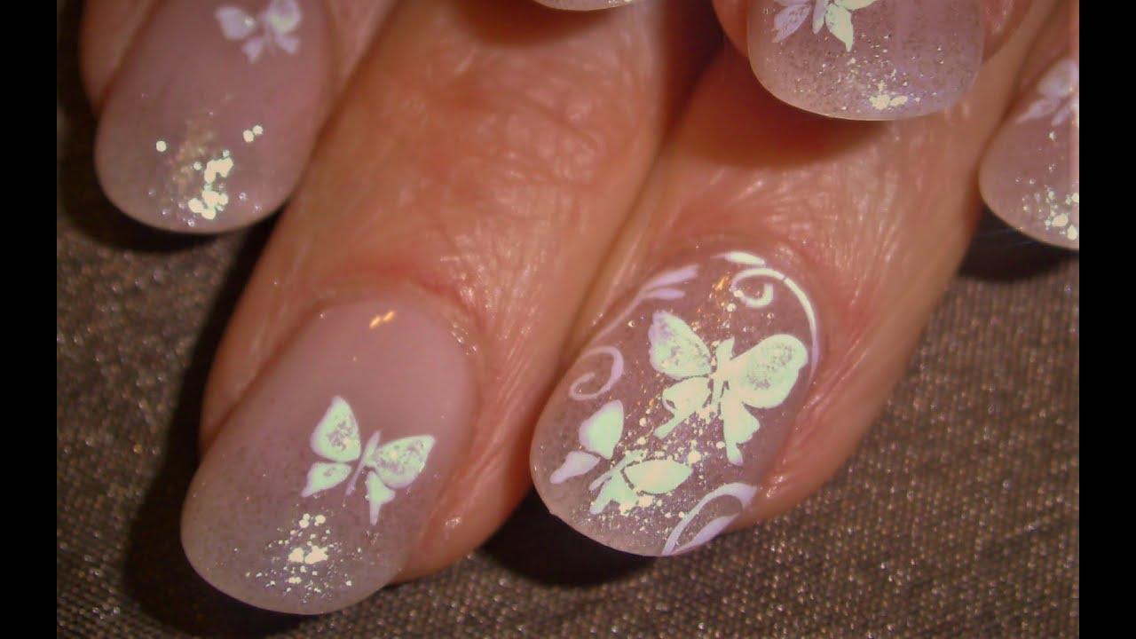 White Erfly Nails Easy Erflies Nail Art Design Tutorial