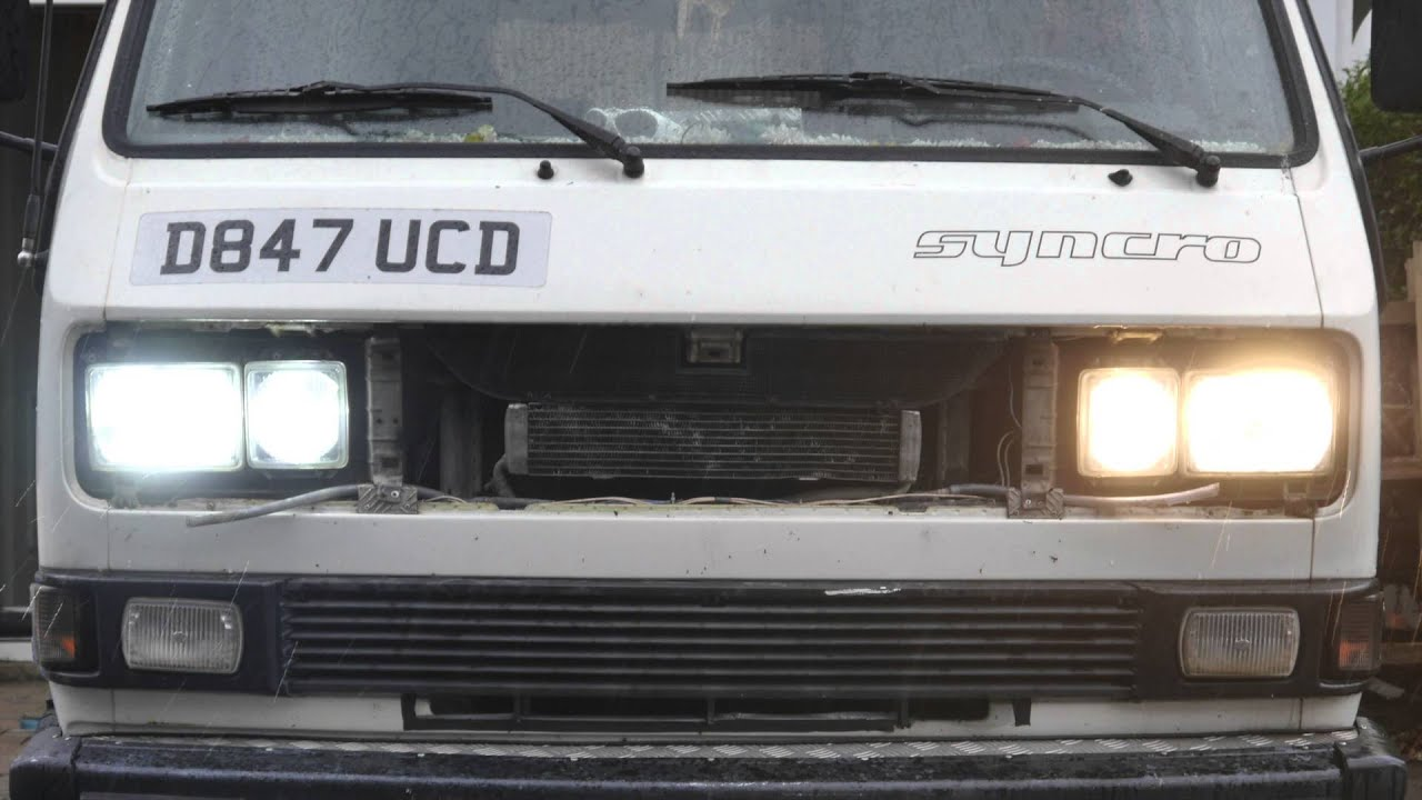 vw t25 t3 headlight upgrade from campervanculture com