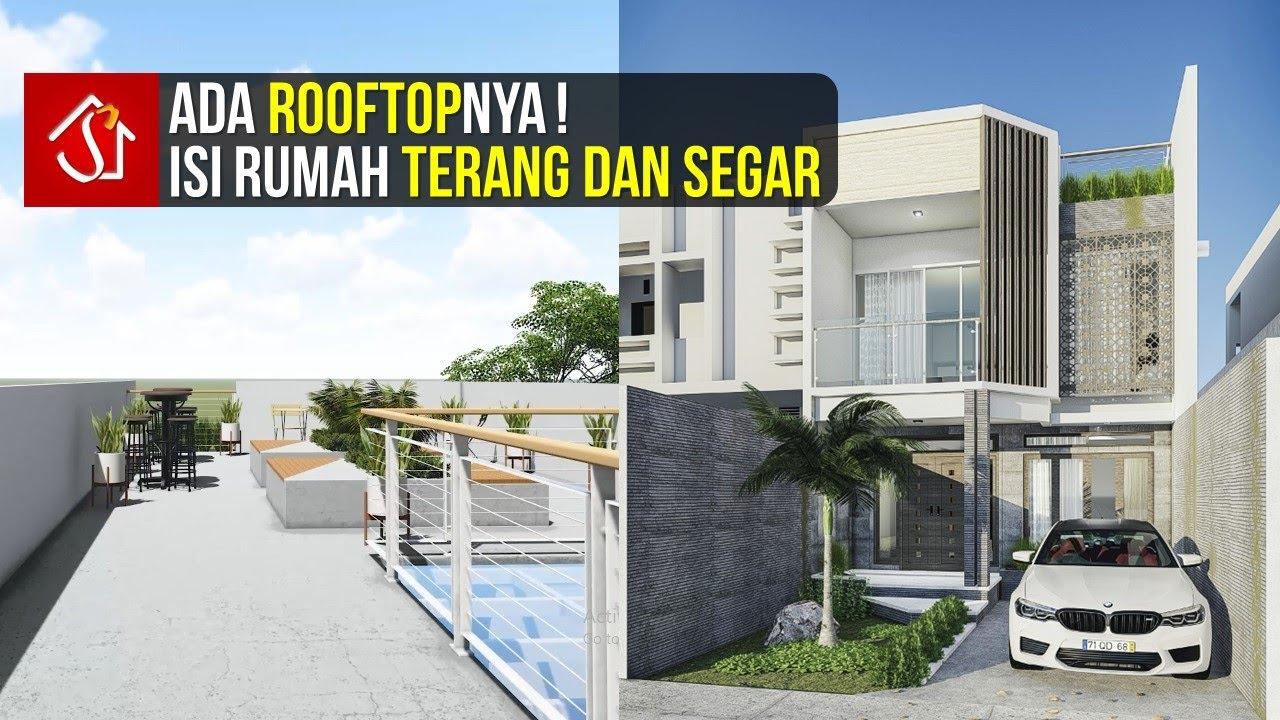 Desain Rumah Mewah 6x30 M2 2 Lantai Plus Rooftop Youtube