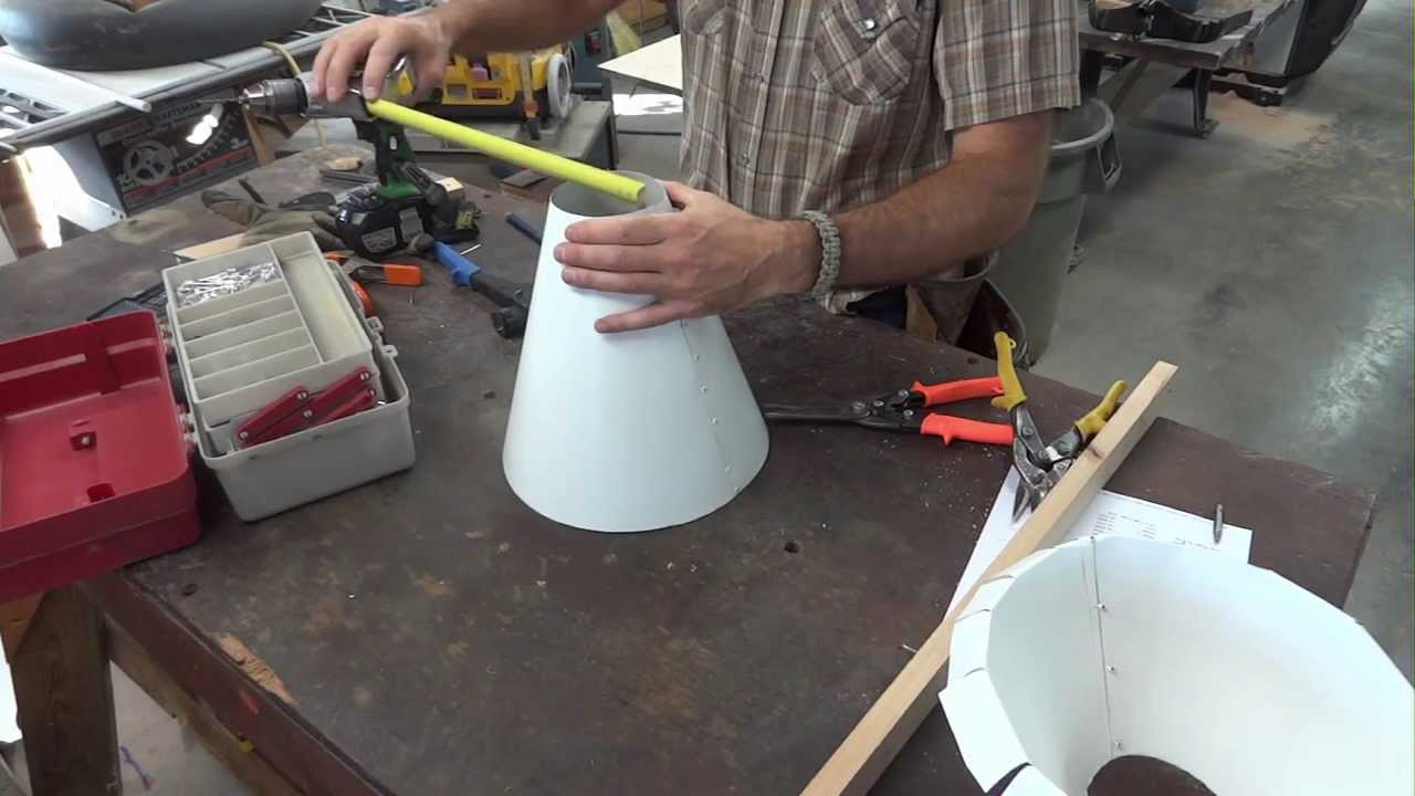 How To Make A Cone From Flat Stock Youtube