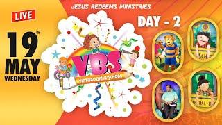 🔴🅻🅸🆅🅴 || Virtual Bible School (VBS) - Day 2 | Jesus Redeems | May 19, 2021