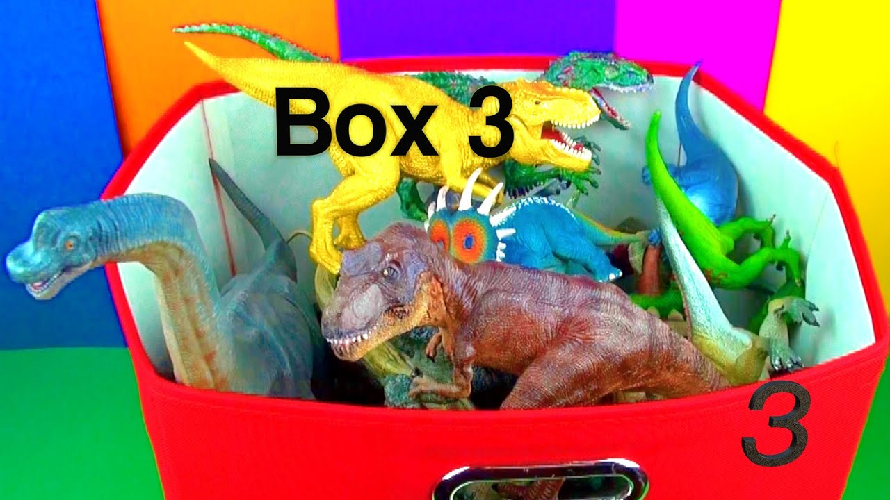 Dinosaurs Toys Collection : Dinosaur box toy collection jurassic world t rex spin