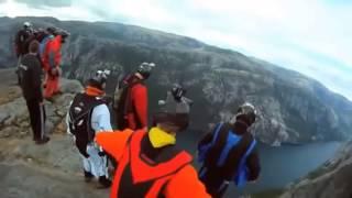 deporte extremo! Hombres Volando