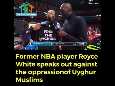 Former NBAplayer Royce White speaks for Uyghurs