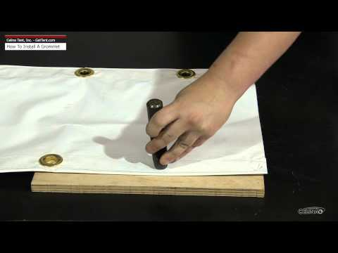 How to install a Grommet (Eyelet)