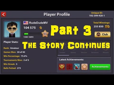 8 Ball Pool Story Mode! - 0 to 1 Million Coins in just 50 Matches | No Hack/Cheats [Part 3]