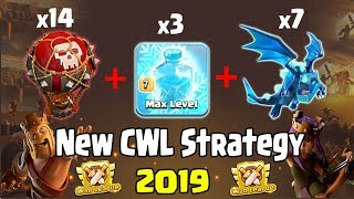 New CWL Strategy 2019! 7 Electro Dragon + 14 Balloon Attack Destroy 3 Star TH12 Base Clash Of Clans