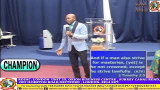 CHAMPION BY PASTOR ISRAEL OLUBORI