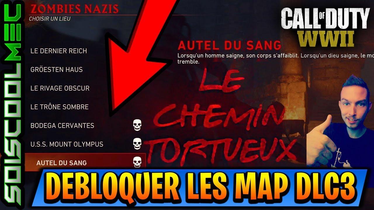 COMMENT DÉBLOQUER LES MAPS SURVIE DU DLC 3! ET FAIRE + DE 10 MANCHE! TUTO COD WW2 ZOMBIE!