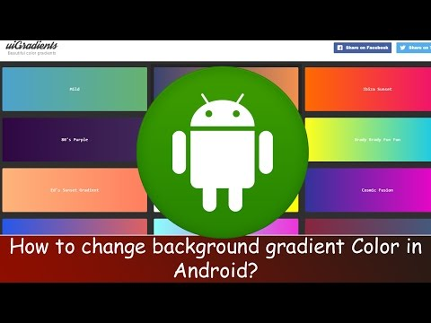 How To Set Background Gradient Color In Android, Android Studio 2016