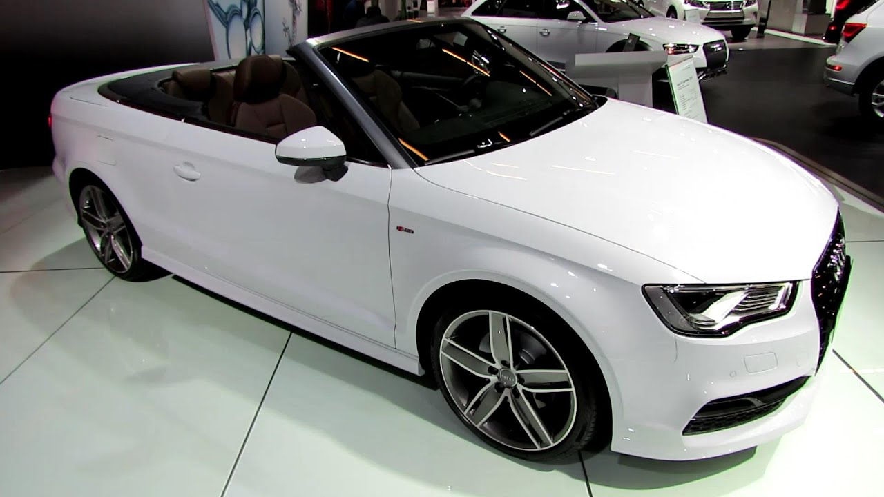 2015 audi a3 tfsi s line cabriolet exterior and interior walkaround 2014 montreal auto show. Black Bedroom Furniture Sets. Home Design Ideas
