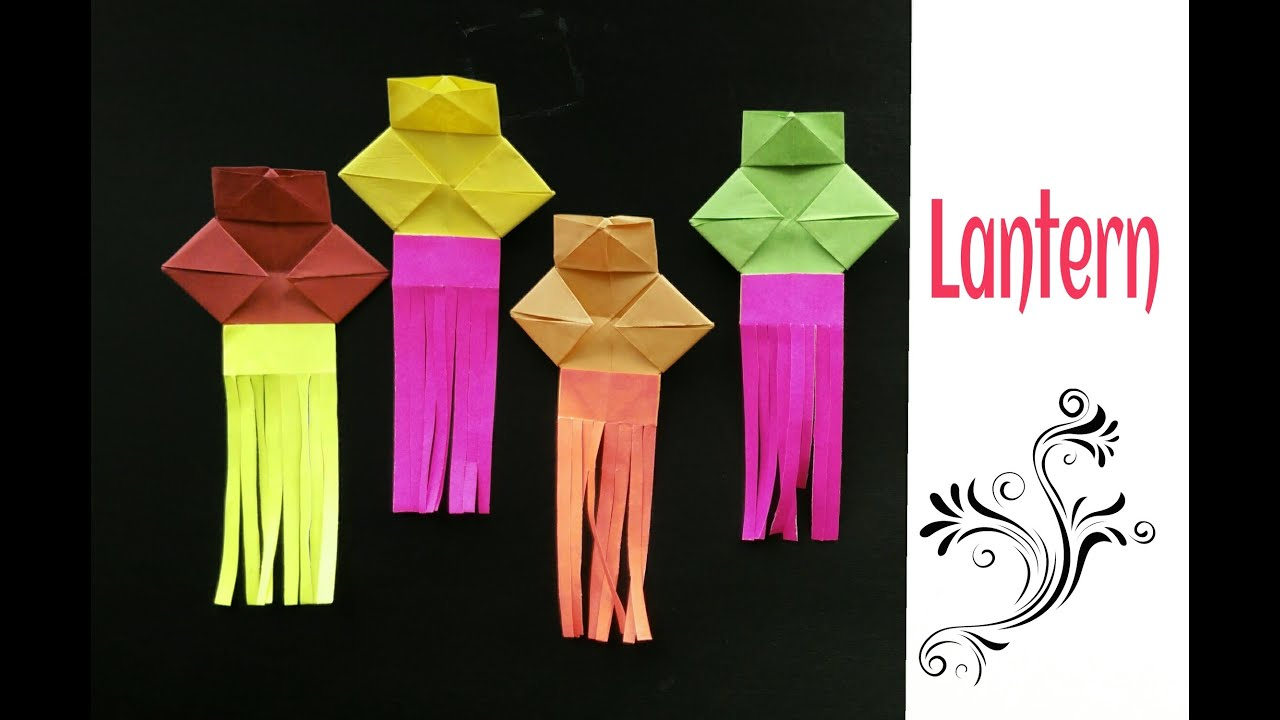 Origami Paper Simple Lantern Diwali Christmas