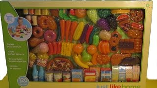 DELUXE Playfood Set - Learn all about Food! - Learn Names of Vegetables, Fruit, Desserts - English