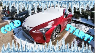 How Well Does The 2021 Lexus LC500 5.0L V8 Handle The Cold?    Ft. Our 2010 Toyota RAV4 Sport!
