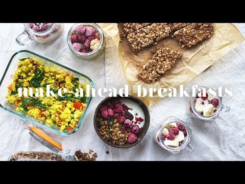5 MAKE-AHEAD VEGAN BREAKFAST RECIPES | Quick & Easy Meal Pre