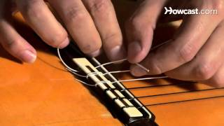 How to Restring a Nylon String Guitar   Guitar Lessons